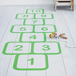 Hopscotch Vinyl Floor Sticker - gifts for children
