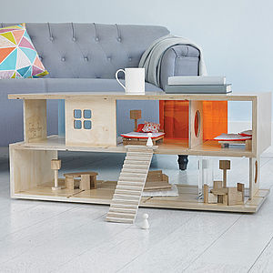 Dual Purpose 'S' Coffee Table And Doll's House - pretend play & dressing up