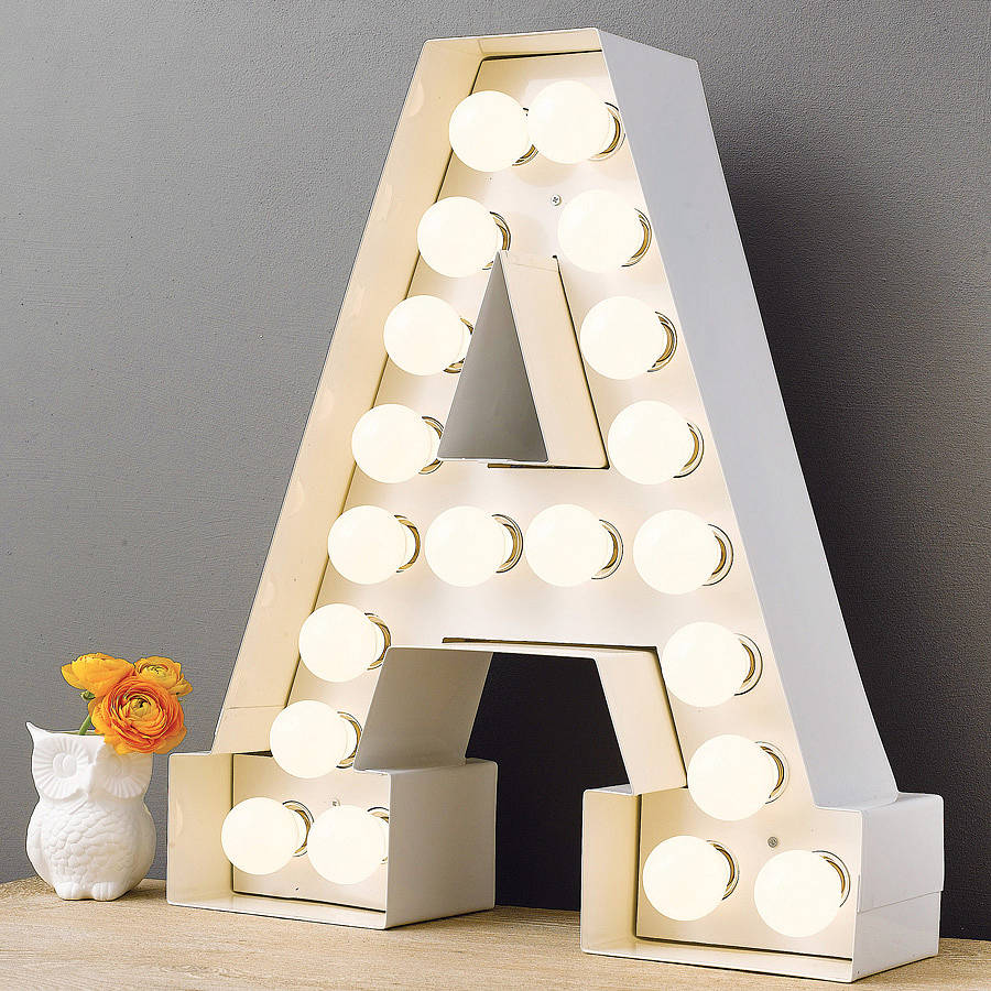 Alphabet hollywood light by letteroom notonthehighstreetcom for Hollywood light up letters