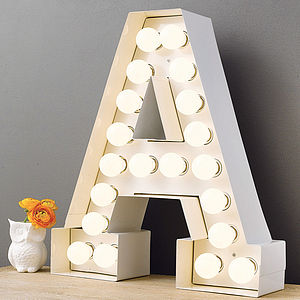 Alphabet Hollywood Light - decorative letters