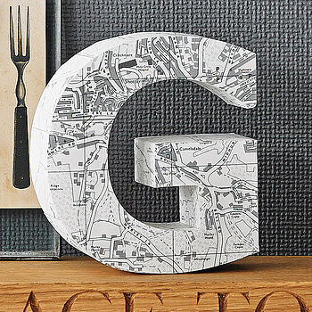 Personalised 3 D Map Letter