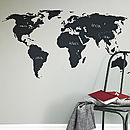 Thumb blackboard world map wall sticker