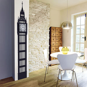 Big Ben Wall Sticker Clock - wall stickers by room