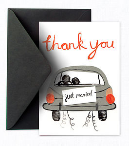 X 30 Whimsical Wedding Thank You Cards