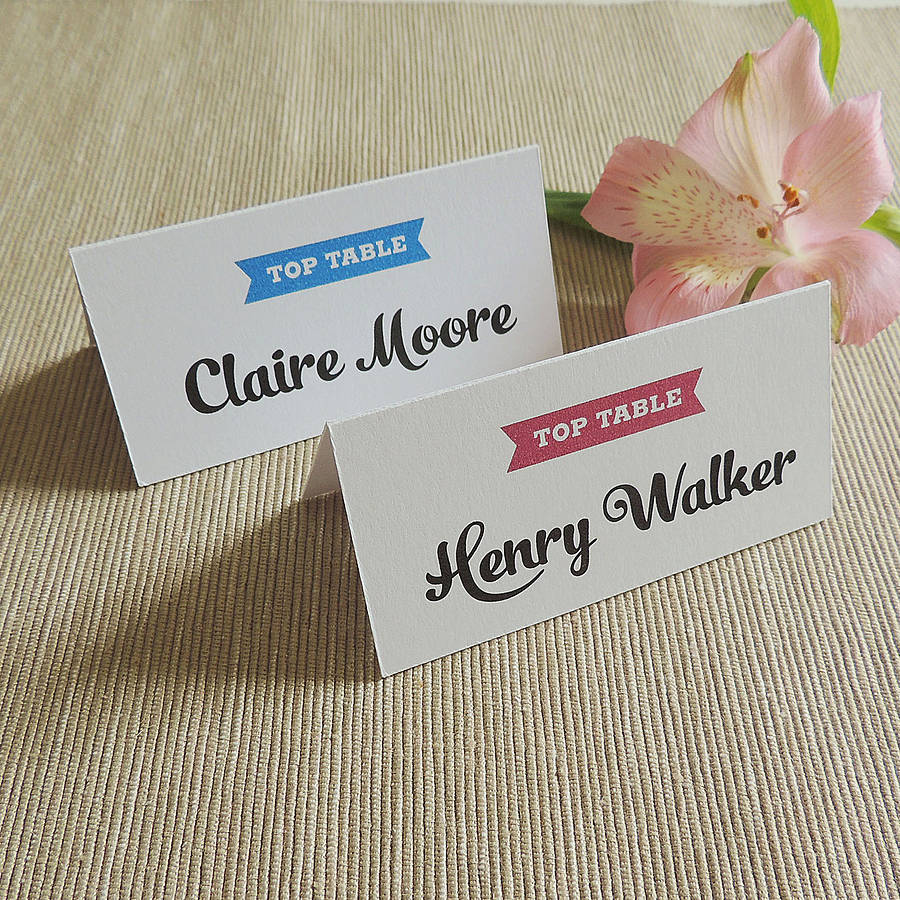 personalised place card name card by project pretty
