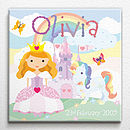 Personalised Little Princess Print Or Canvas