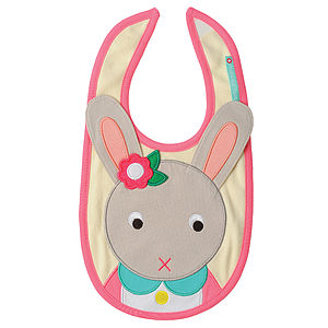 Betty the Bunny Bib - children's easter