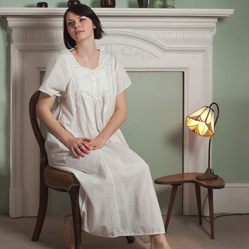 Nicole Cotton Embroidered Nightdress