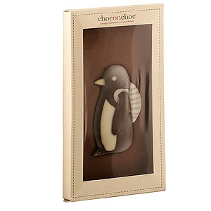 Penguin With Rucksack Chocolate Bar - christmas parties & entertaining