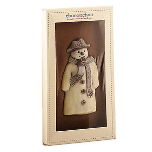 Dark Snowman Chocolate Bar - christmas parties & entertaining