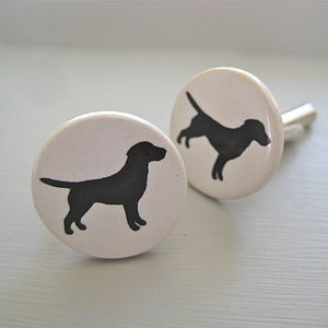 Ceramic Labrador Cufflinks - pet-lover