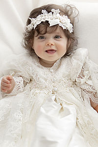 Baby Headband Amelia - christening wear