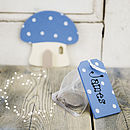 Personalised Toadstool Tooth Fairy Door