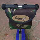Camouflage Print Child's Scooter Or Bike Bag Personalised Name