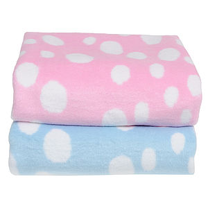 Spots Baby Blanket - throws, blankets & fabric