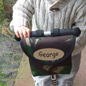 Camouflage Print Child's Scooter Or Bike Bag Personalised