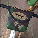 Camouflage Print Child's Scooter Or Bike Bag Personalised Balance Bike