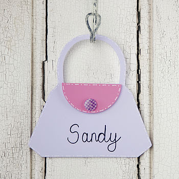 Personalised Handbag Door Sign
