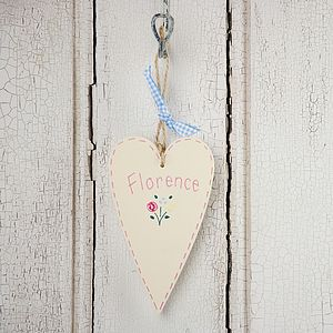 Personalised Spring Flower Country Heart - for children
