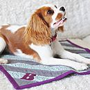 Handmade Quilted Stripes Pet Blanket