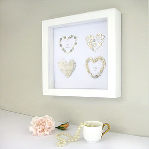 Personalised Golden Anniversary Artwork - anniversary gifts