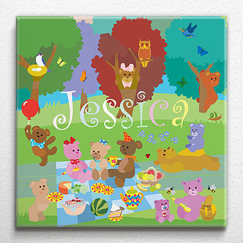 Teddy Bears' Picnic Personalised Canvas
