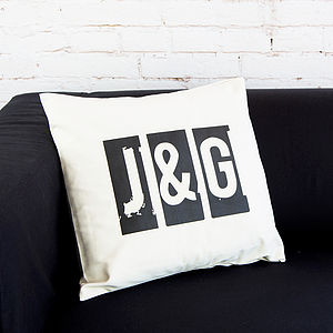 Personalised Initial Cushion - decorative accessories