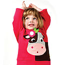 Collette The Cow Hooded Sweatshirt