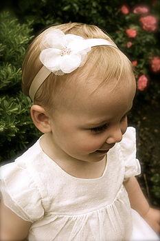Charlotte Silk Flower Girl & Baby Hairband