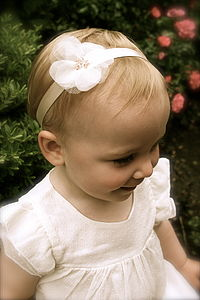 Charlotte Silk Flower Girl & Baby Hairband - wedding fashion