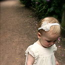 Charlotte Silk Flower Girl & Baby Hairband