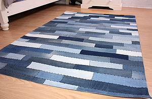 Denim Rug - dining room