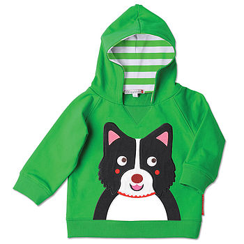 Boris The Border Collie Hooded Sweatshirt