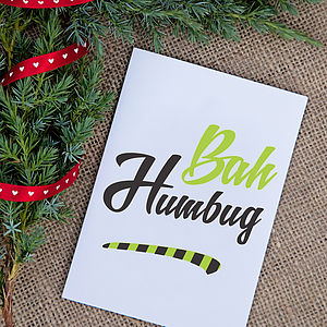 'Bah Humbug' Greeting Card - view all sale items