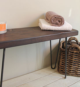 Industrial Wood And Steel Bench - kitchen