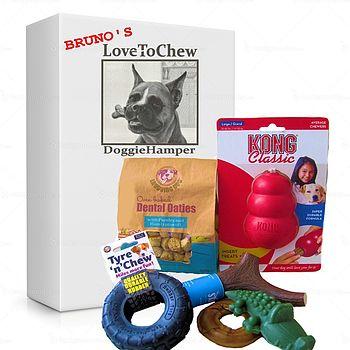 Dog Gift 'Love To Chew' Gift Hamper