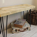 Industrial Wood And Steel Bench
