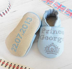 Personalised Prince Baby Shoes - clothing