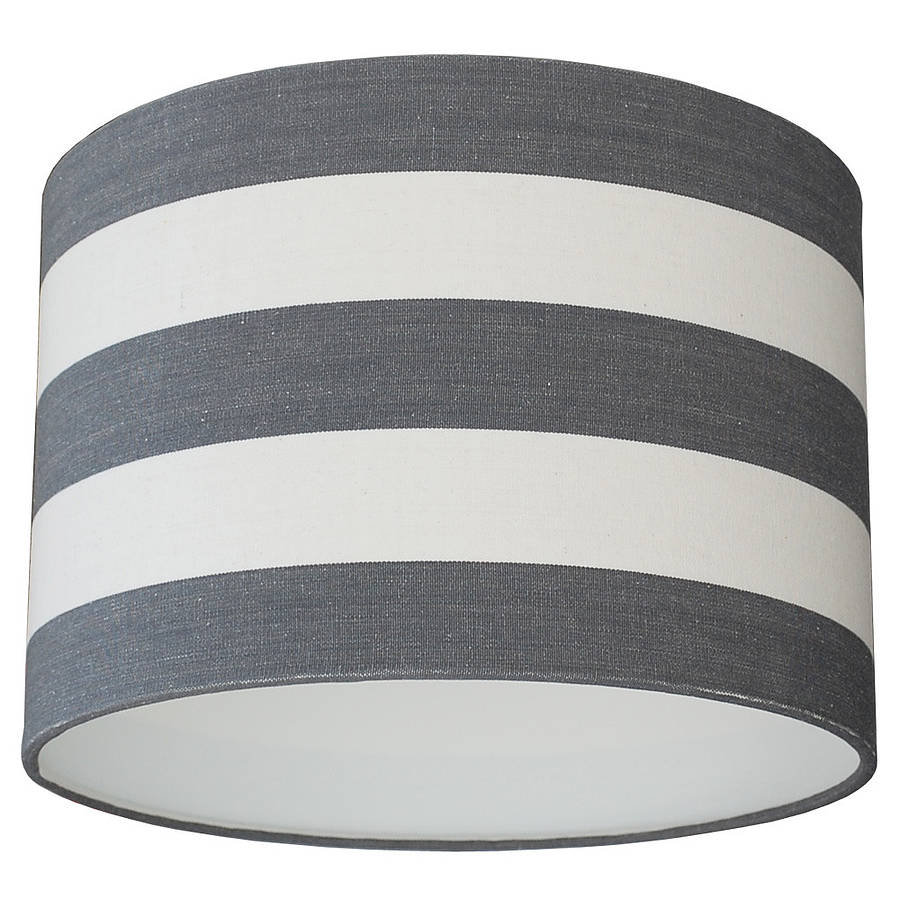 tripod table lamp & stripe shade by quirk | notonthehighstreet.com