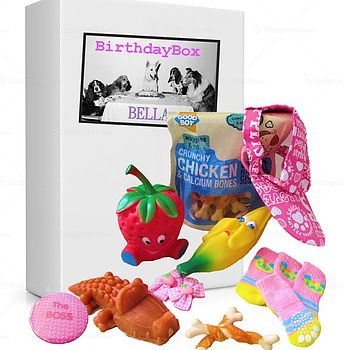 Dog Birthday Box Hamper For Girls