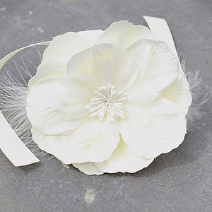 Flower And Feather Bracelet - wedding jewellery