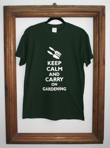 'Keep Calm & Carry On Gardening' T Shirt