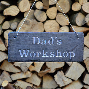 Engraved Slate Dad's Garden Sign - art & decorations