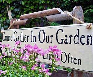 Personalised Vintage Style Wooden Garden Sign - outdoor decorations