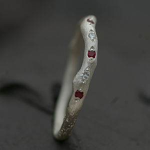 Eternity Ring Set With Ruby And Diamond - jewellery sale