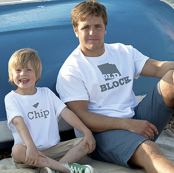 'Chip Off The Old Block' T Shirt Set