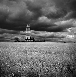 Happisburgh Lighthouse, Black And White Signed Print