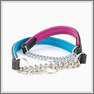 Padded Leather Half Check Collar - dogs
