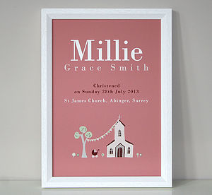 Personalised Christening Or Baptism Print - paintings & canvases