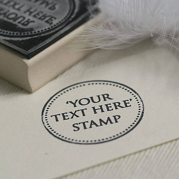 'Your Own Text' Rubber Stamp